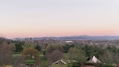 Photograph - Dawn Breaks Over The City Of Asheville by MM Anderson