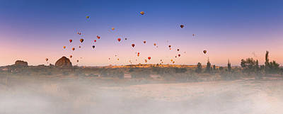 Dawn, Cappadocia Art Print by Marji Lang