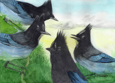 Wall Art - Mixed Media - Dawn Chorus by Pam Little