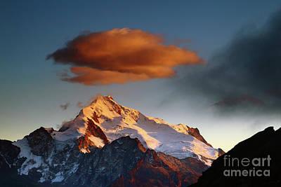 Dawn Cloud Above Mt Huayna Potosi 2 Art Print