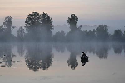 Photograph - Dawn Fisherman by rd Erickson