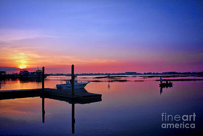 Going Green - Dawn Fishing by Irene Dowdy