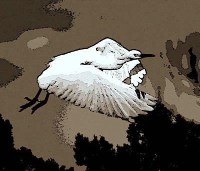 Snowy Digital Art - Dawn Flight by Lisa Scott