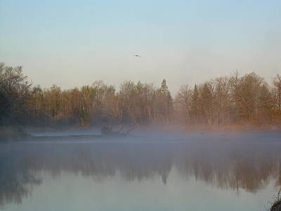 Photograph - Dawn Fog Over Mississippi River by Kent Lorentzen