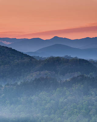 Photograph - Dawn From Foothills Parkway - Vertical by Michael Blanchette
