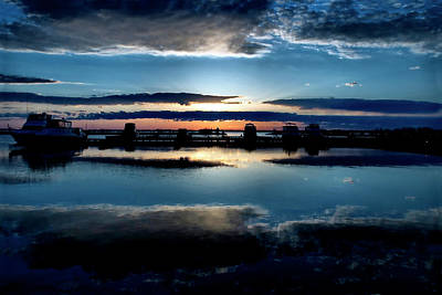Digital Art - Dawn Harbour by JGracey Stinson