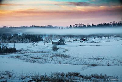 Photograph - Winter Solstice Benson Vermont by Yuri Lev