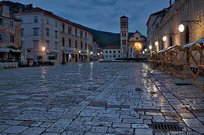 Photograph - Dawn In Hvar Town - Croatia by Stuart Litoff