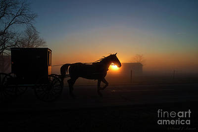 Photograph - Dawn In Northern Indiana by David Arment