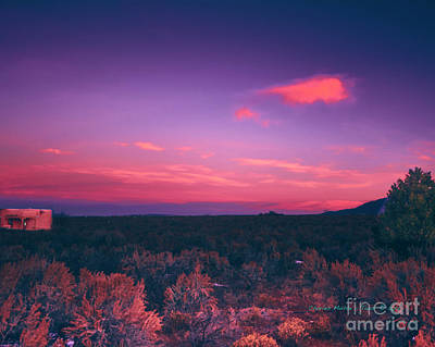 Photograph - Dawn In Taos by Charles Muhle