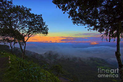 Dawn In The Cajas Range Of The Andes Art Print