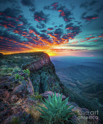 Landmarks Royalty-Free and Rights-Managed Images - Dawn in the Chisos by Inge Johnsson