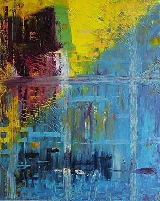 Painting - Dawn In The City by Tamara Savchenko