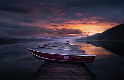 Photograph - Dawn // Lake Mcdonald // Glacier National Park  by Nicholas Parker