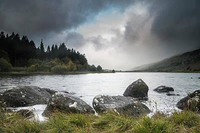 Llynnau Mymbyr Photograph - Dawn Landscape Image Of Llynnau Mymbyr In Autumn In Snowdonia Na by Matthew Gibson