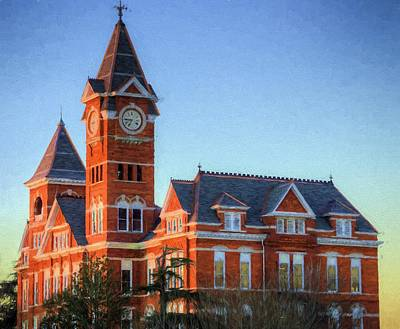 Photograph - Dawn Light On Samford Hall by JC Findley