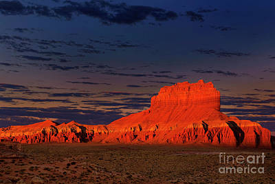 Photograph - Dawn Light On Wild Horse Butte Goblin Valley Utah by Dave Welling