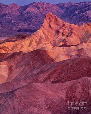 Photograph - Dawn Light Zabriski Point Death Valley National Park California by Dave Welling