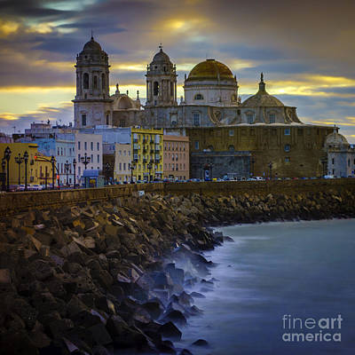 Photograph - Dawn Lights Cadiz Spain by Pablo Avanzini