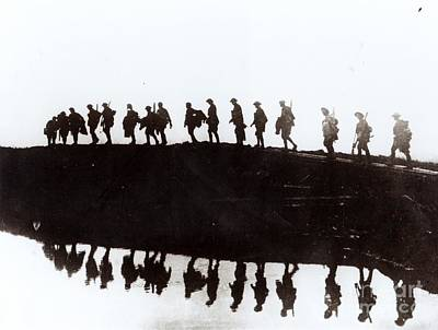 Trench Photograph - Dawn March by Private Collection