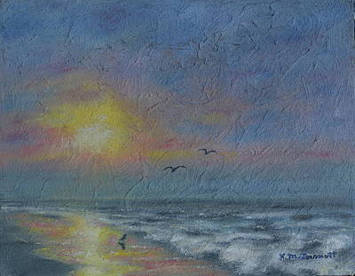 Painting - Dawn Mist - Three Gulls by Kathleen McDermott