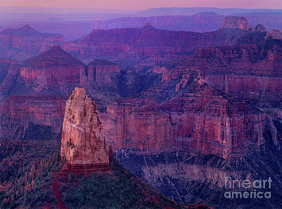 Photograph - Dawn Mount Hayden Sunrise North Rim Grand Canyon Arizona by Dave Welling