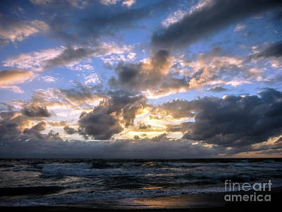 Photograph - Dawn Of A New Day Treasure Coast Florida Seascape Sunrise 138 by Ricardos Creations