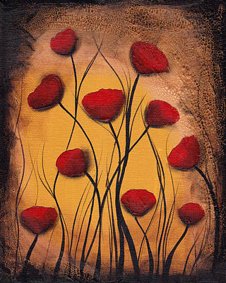 Painting - Dawn Of The Poppies by  Abril Andrade Griffith
