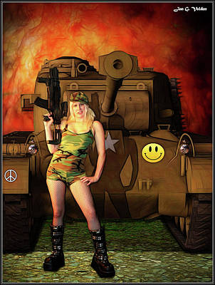 Photograph - Dawn Of The Tank Girl by Jon Volden