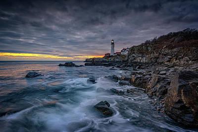 Photograph - Dawn On Casco Bay by Rick Berk