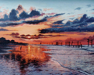 Painting - Dawn On Crystal Beach by Randy Welborn