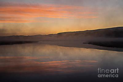 Photograph - Dawn On Flat Creek by Sandra Bronstein