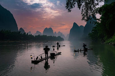 Photograph - Waiting For Sunrise On Lee River. by Usha Peddamatham
