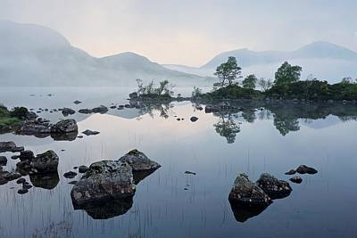 Photograph - Dawn On Lochan Na Achlaise by Stephen Taylor