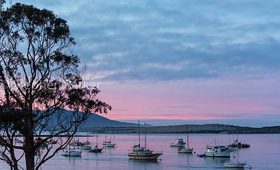 Photograph - Dawn On Morro Bay  8b5232 by Stephen Parker