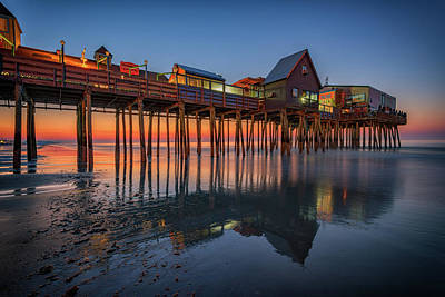 Photograph - Dawn On Old Orchard Beach by Rick Berk
