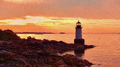 Dawn On Salem Harbor Art Print by Jeff Folger