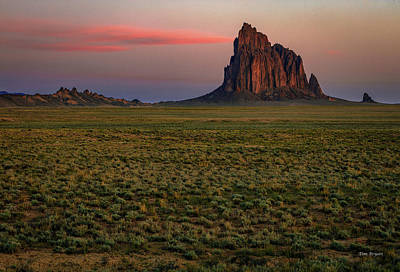 Photograph - Dawn On Shiprock by Tim Bryan