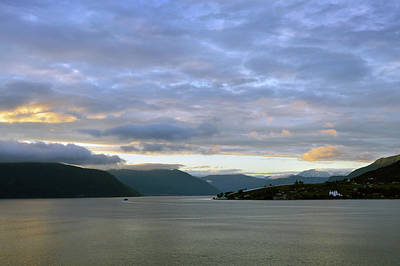 Photograph - Dawn On Sognefjorden by Terence Davis