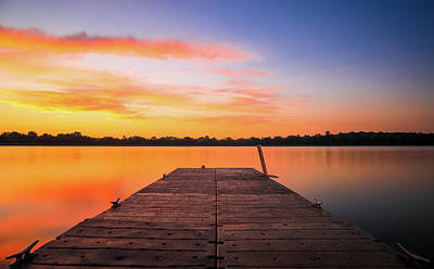 Photograph - Dawn On The Dock by Dan Sproul