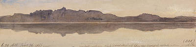 Drawing - Dawn On The Nile by Edward Lear