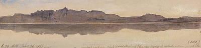 Drawing - Dawn On The Nile by Edward Lear
