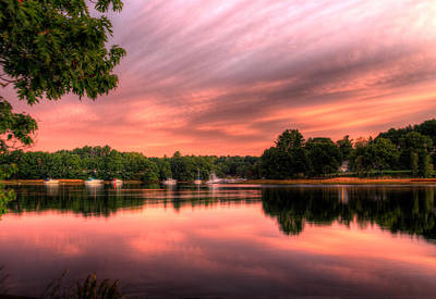 Dawn On The Saco River Art Print by David Bishop