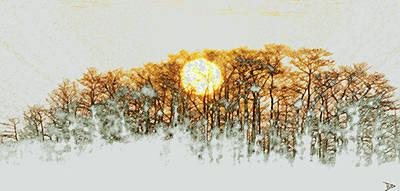 Painting - Dawn On The Savanna by David Lee Thompson