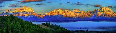 Photograph - Dawn On The Tetons by Greg Norrell