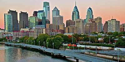 Photograph - Dawn Or Dusk In Philadelphia by Frozen in Time Fine Art Photography