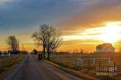 Photograph - Dawn Over Amishville by David Arment