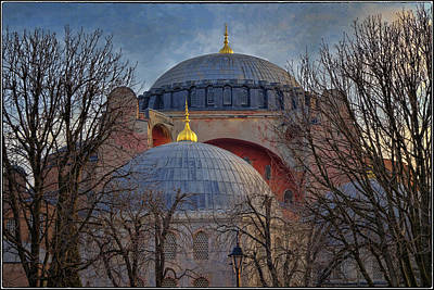 Hagia Sophia Photograph - Dawn Over Hagia Sophia by Joan Carroll