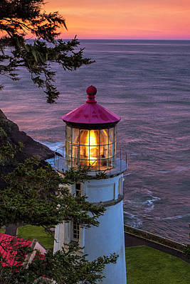 Photograph - Dawn Over Heceta Head by Andrew Soundarajan