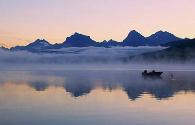 Photograph - Dawn Over Lake Mcdonald by Carolyn Derstine